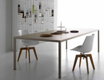 Mesa moderna / de metal / rectangular / de interior