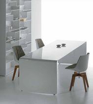 Mesa de comedor / moderna / de aluminio lacado / rectangular