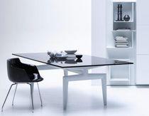 Mesa moderna / de vidrio / de mármol / de aluminio fundido