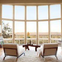 Ventana abatible / de madera / ventana mirador