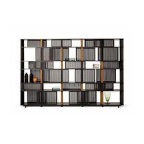 Biblioteca moderna / de chapa de madera / de cuero / de HPL