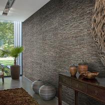 Revestimiento de pared de fibras naturales / para uso residencial / texturado / aspecto piedra
