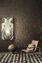 Papeles pintados modernos / de fibras naturales / con motivos de la naturaleza / negros
