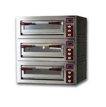Horno para uso profesional / eléctrico / para pizzas / con 3 cámaras