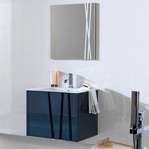 Mueble de lavabo suspendido / de madera / moderno / lacado