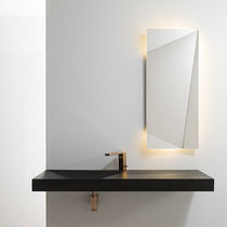 Espejo de pared / moderno / rectangular / con luz LED