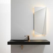 Espejo de pared / con luz LED / moderno / rectangular