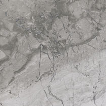 Placa de piedra de mármol / mate / para revestimiento interior / gris