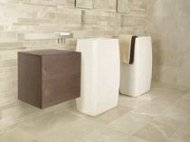 Lavabo de pie / rectangular / de piedra natural / moderno