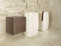 Lavabo de pie / rectangular / de piedra natural / moderno
