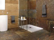 Plato de ducha rectangular / de piedra natural