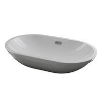Lavabo de empotrar / ovalado / de cerámica / moderno