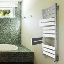 Radiador toallero de agua caliente / eléctrico / de metal / cromado