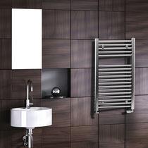 Radiador toallero de agua caliente / eléctrico / de acero / cromado