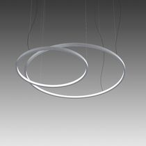 Luminaria suspendida / LED / redonda / de aluminio