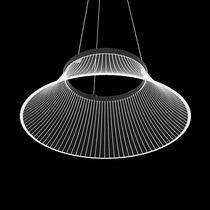 Lámpara suspendida / de diseño original / de aluminio pintado / de metacrilato