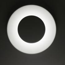 Aplique moderno / de aluminio pintado / LED / redondo
