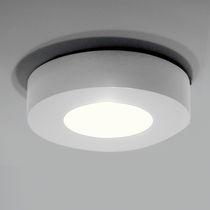 Plafón de diseño original / redondo / de aluminio / LED