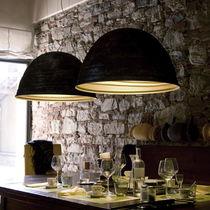 Lámpara suspendida / de diseño original / de aluminio / de interior