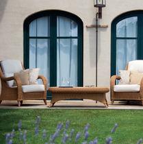Mesa de centro clásica / de fibras sintéticas / rectangular / de jardín