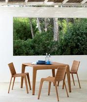 Mesa de comedor moderna / de fibras sintéticas / cuadrada / rectangular