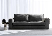 Sofá cama / moderno / de cuero / de tela