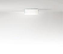 Plafón moderno / cuadrado / rectangular / de vidrio