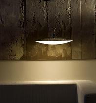 Lámpara suspendida / moderna / de vidrio soplado / de metal cromado