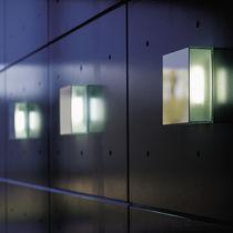 Aplique moderno / de vidrio / fluorescente / rectangular