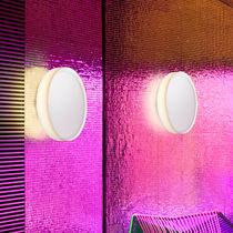 Aplique moderno / de vidrio / LED / fluorescente