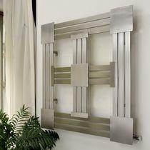 Radiador de agua caliente / de acero inoxidable / de diseño original / cuadrado