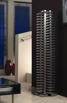 Radiador de agua caliente / de acero inoxidable / de diseño original / vertical
