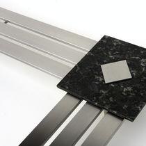 Radiador de agua caliente / de acero inoxidable / de diseño original / rectangular