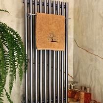Radiador toallero de agua caliente / de aluminio / moderno / vertical