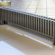 Radiador de agua caliente / de metal / moderno / horizontal