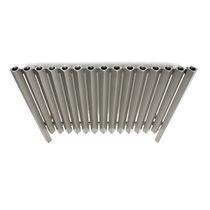 Radiador de agua caliente / de acero inoxidable / de diseño original / horizontal