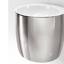 Lavabo suspendido / redondo / de cerámica / de diseño original