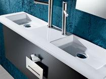 Lavamanos de libre instalación / rectangular / de cerámica