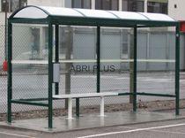 Parada de autobus de metal / cara de cristal