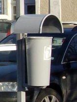 Cubo de basura público / empotrable / de acero / moderno