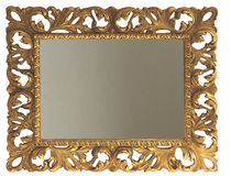espejo de pared de estilo rectangular dorado