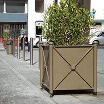 Jardinera de metal / cuadrada / clásica / para espacio público