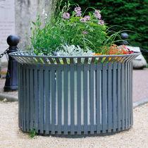 Jardinera de metal / redonda / clásica / para espacio público