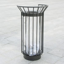 Cubo de basura público / de metal / antiterrorismo / moderno