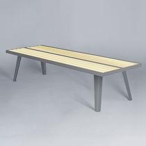 Banco público / moderno / de madera / de acero