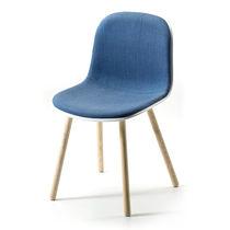 Silla de diseño escandinavo / tapizada / de tejido / de fresno
