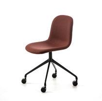 Silla de oficina moderna / con ruedas / con patas en forma de estrella / de tejido