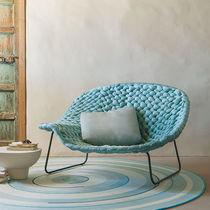 Chaise longue moderna / de madera / de acero / de interior