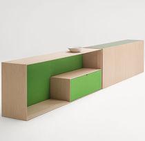 Aparador moderno / de madera lacada