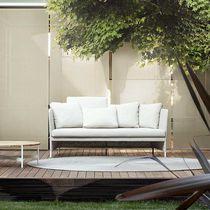 Sofá moderno / de jardín / de tejido / de acero